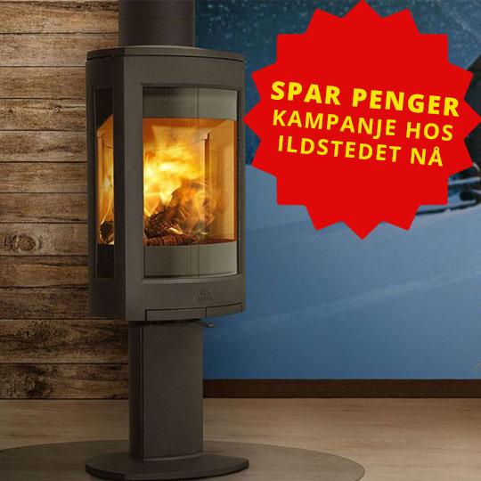 Bilde av en kampanjeplakat for kampanje på ovner hos Ildstedet